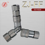 Zj-Ff Flat Face Type Hydraulic Quick Coupler (ISO16028) (SS316/Steel)