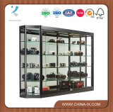 Wall Mounted Display Case Mirror Back Sliding Doors