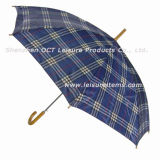 Economic Straight Man Umbrella with Rip-Stop Design (OCT-GH016)