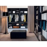 Modern Luxury Brown Melamine Wood Open Closet for Cloakroom