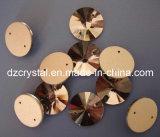 Crystal Glass Round Sew on Beads (DZ-3041)