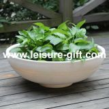Fo-307 Stone Like Bowl Fiberglass Plant Pot for Garden Decorate