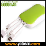 Mobile Cell Phone External Power Bank Charger Station 5000mAh