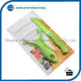 Ceramic Knife Peeler Set with Color Handle