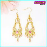 Cheap Chinese Fashion Drop Gold Earring with Crystal
