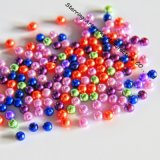 Plastic Material Colored 6mm Bulk Loose Pearl Beads (P161220A)