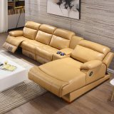 2017 New Living Room Recliner Leather Sectional Sofa