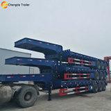 3 Axles Lowbed Semi Trailer Truck, Lowboy Trailer Truck