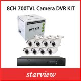 "8CH 700tvl 1/3"" Sony 960h CCD Outdoor Cameras DVR Kits"