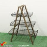 Handmade Vintage Adjustable 3 Tier Wood Storage Rack