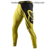 Branded Recast Full Length Compression Pants - Small - Yellow/Black