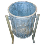 Cast Iron Garbage Can