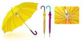 25 Inches X 10 Ribs, Straight Autoamtic Fiberglass Umbrella with Screen Print (YS-SA25101004R)