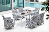 Wholesale High Quality Rattan Wicker Garden Treasures Furniture Outdoor Dining Table Set