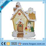 LED Light up Colour Changing Santa House Christmas Ornament Decoration