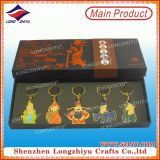 Customized Charming Keychain Set with Nice Printing Paper Box