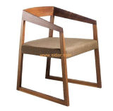 (SD-1005) Nordic Style Restaurant Wooden Dining Chair with Fabric Seat