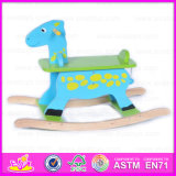 2015 Good Quality Wooden Kids Rocking Horse, Funny Wooden Hobby Rocking Horse Toy, Rocking Horse Toy Funny Baby Plush Toy W16D014