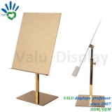 Factory Price Polish Finish Stainless Steel T Shirt Display Stand