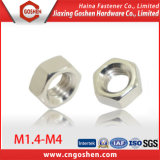 DIN555 Nickel Plating Hexagon Hardware Nut