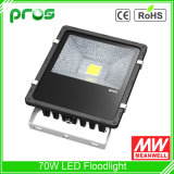 Weatherproof 70W LED Flood Light Luminaire, Outdoor Projection Spotlight