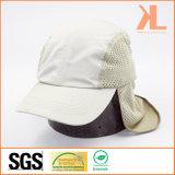 Micro Fiber / Mesh Working Cap with Flap, Fishing Cap