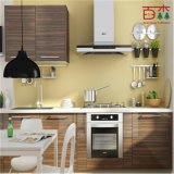 High Gloss Finish Kitchen Design with Wheel and Competitive Price