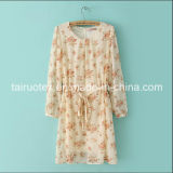 The Polyester Silk Chiffon with Printing for Women Cloth