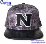 High Quality Supplier Leather Brim Snapback Cap