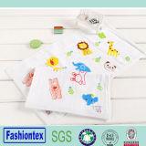 100% Cotton Custom Face Towel Printing Baby Burp Cloth Cartoon Pattern Muslin Cloth
