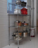 Hot Sale Chrome Metal Wire Kitchen Storage Pan Organizer Rack