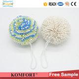 EVA  Bath Ball Colored Exfoliating Pouf Shower Sponge Wholesale (JM228K)