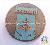 Zinc Die Cast Antique Plated Soft Enamel Epoxy Texture Coin