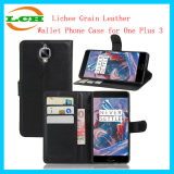Lichee Grain Leather Wallet Phone Case for One Plus 3