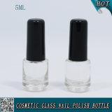 5ml Mini Custom Clear Glass Gel Nail Polish Bottle