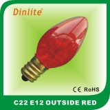 Most popular C22 color incandescent bulb with decorative design