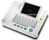 Hospital Use 8.4 Inch Touch Screen Electrocardiograph 12 Channel ECG (EM1200A)