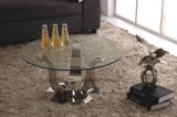 Glass Top Golden Metal Coffee Table Base