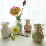 Modern Home Decoration Technology Gift Ceramic Vase Heart Flower Decoration