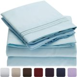 Hypoallergenic 100GSM Bushed Queen Microfiber Bed Sheet Set