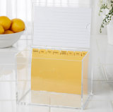 Luxury Acrylic Coin Box or Suggestion Box with A4 Header