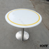 Artificial Marble Pattern Solid Surface Round Dining Table