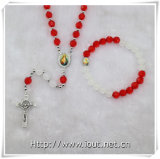 Multicolours Section Plastic Beads Rosary Set (IO-crs003)