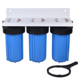 3 Stage 10′′ Big Blue Water Filter Housing with Replacement Filter Cartridge