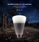 DMX512 RGB-CCT E27, E26, B22 8W LED Bulb