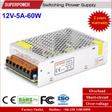 12V 5A 60W Switching Power Supply for LED Linghting