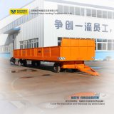 Low Speed Running on Rails with Heavy Industry Transport Trailer