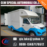 Good Quality 4 Wheel Euro4 Petrol Chang an Ice Cream/Coffee/Fast Food Vending Mobile Kitchen Food Truck
