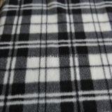 Brushed Polar Fleece with Black & White Checks Print
