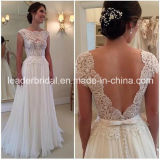 Sheer Corset Wedding Gown Lace Chiffon Bridal Wedding Dress L15331